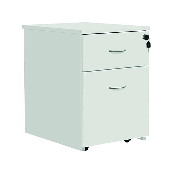 Serrion Eco 18 2 Drawer Mobile Pedestal White KF79825