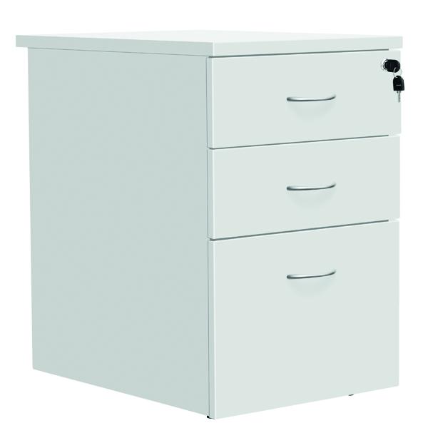 Serrion Eco 18 Desk High Pedestal D800mm White KF79827