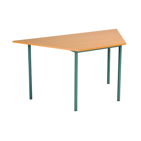 Serrion Trapezoidal Desk 1500mm Bavarian Beech ETRAPT1500BE