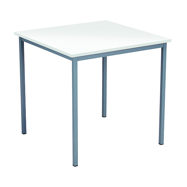 Serrion Square Desk 750mm White ESQUT750WH
