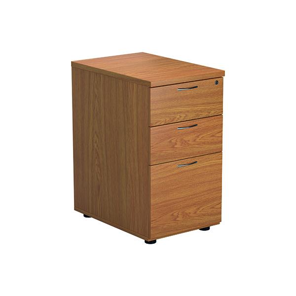 FF Jemini Nova Oak 3 Drawer Desk High Ped TESDHP3/800NO