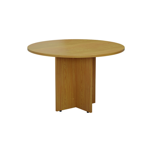 Jemini Round Meeting Table 1200mm Nova Oak TES1100DNO