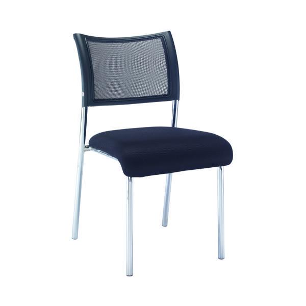 Jemini Jupiter Mesh Back Conference 4 Leg Side Chair W/Chrome Frame KF79892