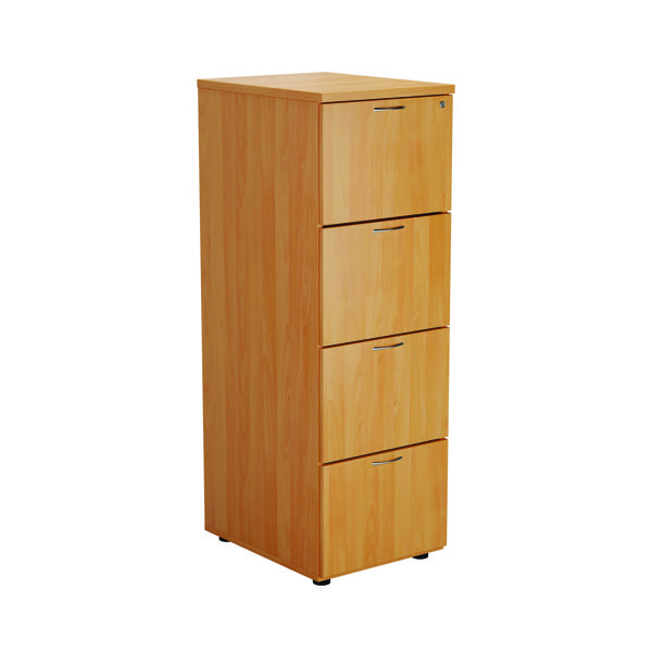 First Four Drawer Filing Cabinet Beech TES4FCBE2