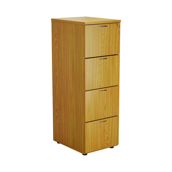 First Four Drawer Filing Cabinet Nova Oak TES4FCNO
