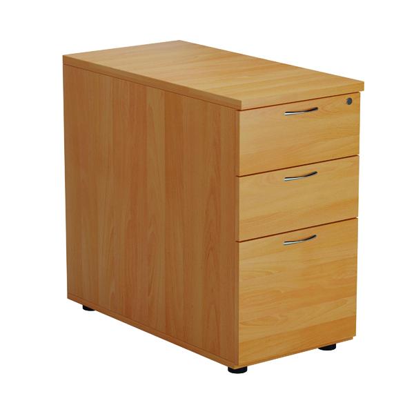 First Desk High 3 Drawer Pedestal 800mm Deep Beech TESDHP3/800BE2FR