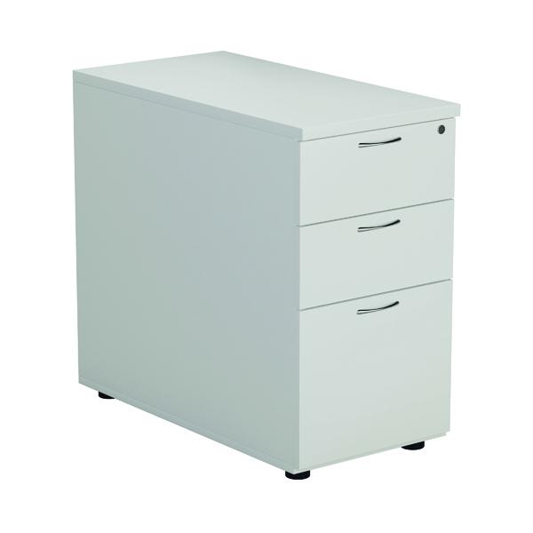 First Desk High 3 Drawer Pedestal 800mm Deep White TESDHP3/800MA