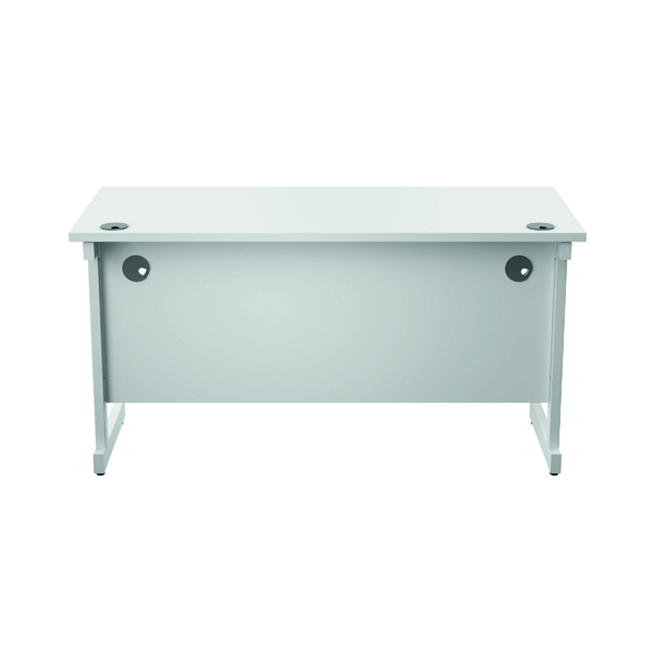 Jemini Single Rectangular Desk 1400x600mm White/White KF800614