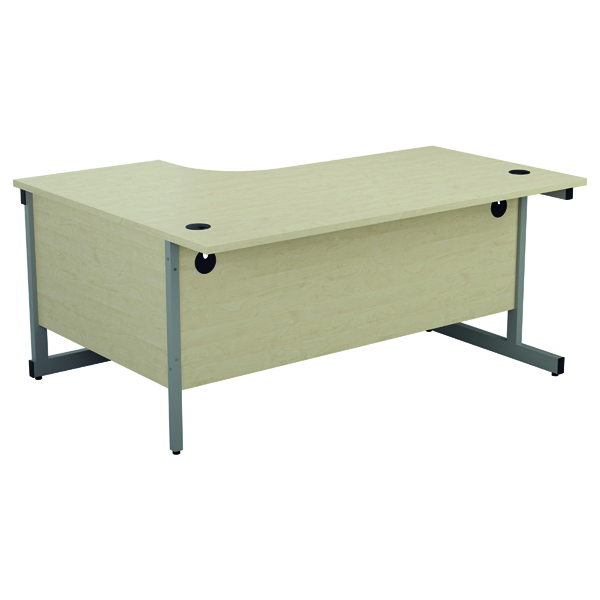Jemini Right Hand Radial Desk 1600x1200mm Maple/Silver KF801827