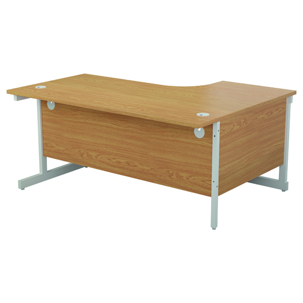 Jemini Left Hand Radial Desk 1600x1200mm Nova Oak/White KF801868