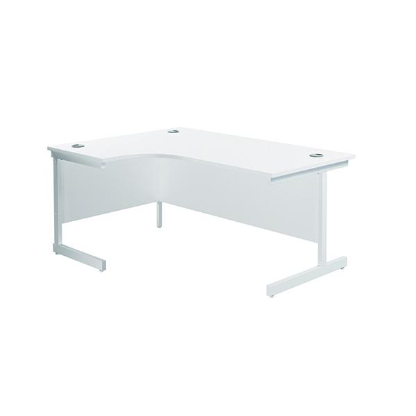 Jemini Left Hand Radial Desk 1600x1200mm White/White KF801874