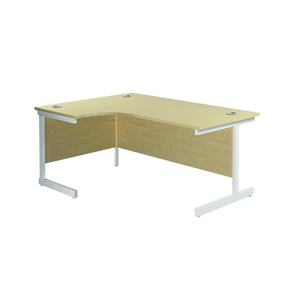 Jemini Left Hand Radial Desk 1600x1200mm Maple/White KF801880