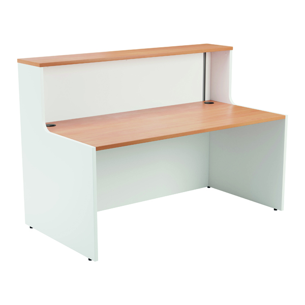 Jemini Reception Unit 1400mm Beech/White KF816340