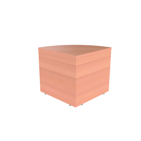 Jemini Reception Modular Corner Base Unit Beech KF816486