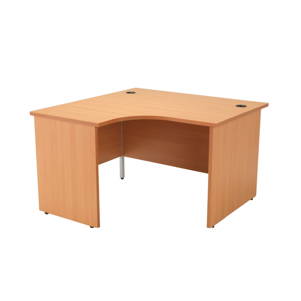 Jemini Beech Left Hand Panel End Radial Desk 1200mm KF838057