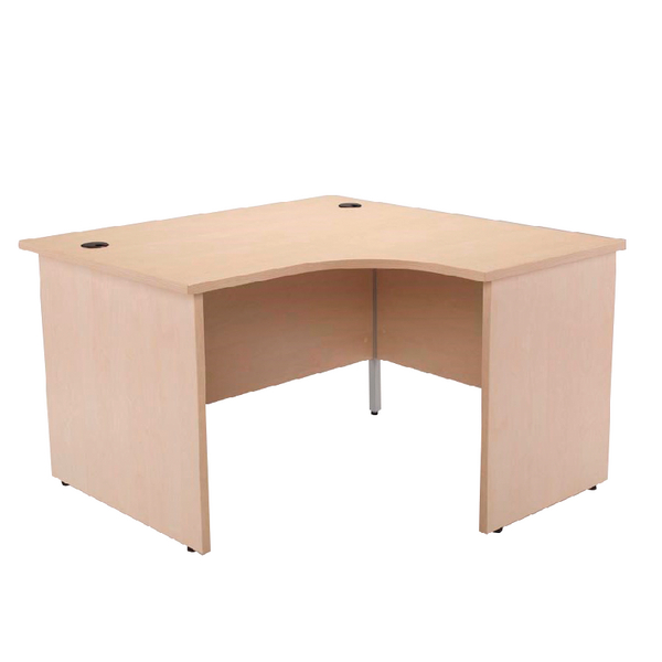 Jemini Maple Right Hand Panel End Radial Desk 1200mm KF838062