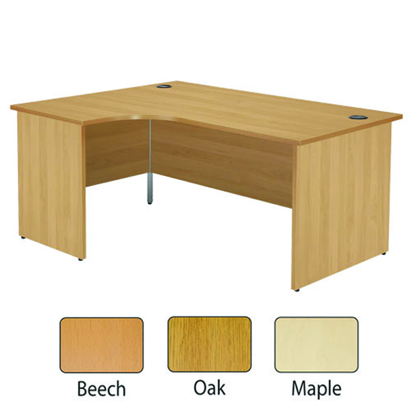 Jemini Beech Left Hand Panel End Radial Desk 1600mm KF838063