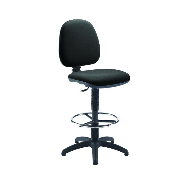 Jemini Medium Back Draughtsman Chair Charcoal KF838253