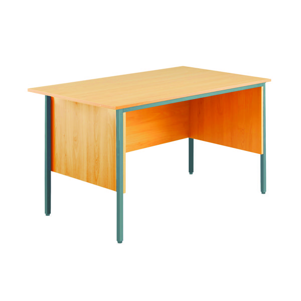 Serrion Bavarian Beech 1200mm Four Leg Desk KF838367