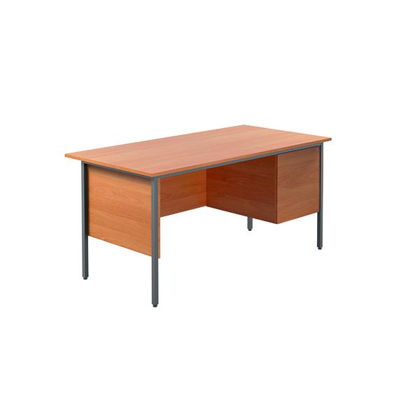 Serrion Bavarian Beech 1500mm Four Leg Desk with Two Drawer Pedestal KF838375