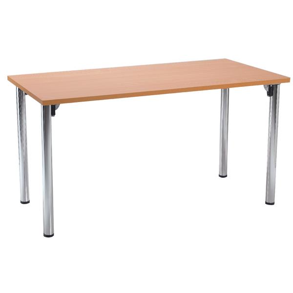 Serrion Bavarian Beech Rectangular Meeting Room Table Folding Leg KF838576