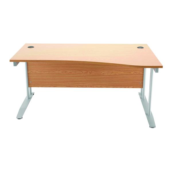 Arista 1600mm Right Hand Oak Wave Desk KF838643