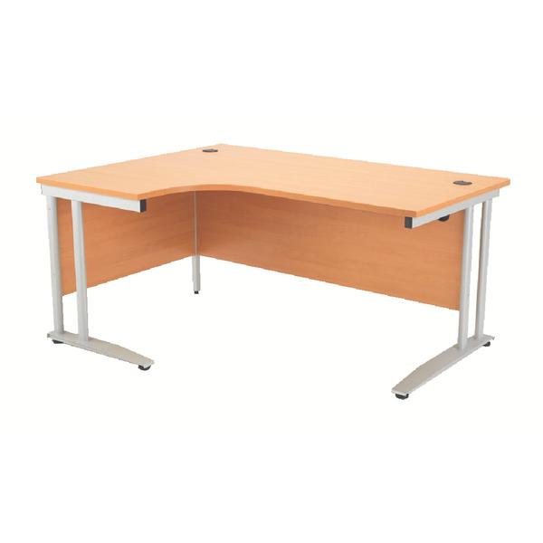 Arista 1600mm Left Hand Beech Radial Desk KF838652