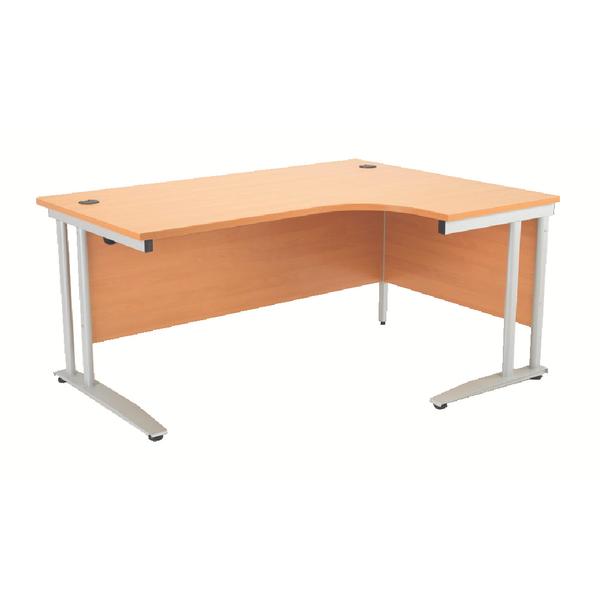 Arista 1600mm Right Hand Beech Radial Desk KF838653
