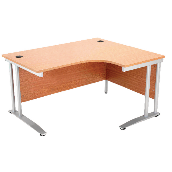 Arista 1600mm Right Hand Oak Radial Desk (Dimensions: W1600 x D600/800 x H720mm) KF838655