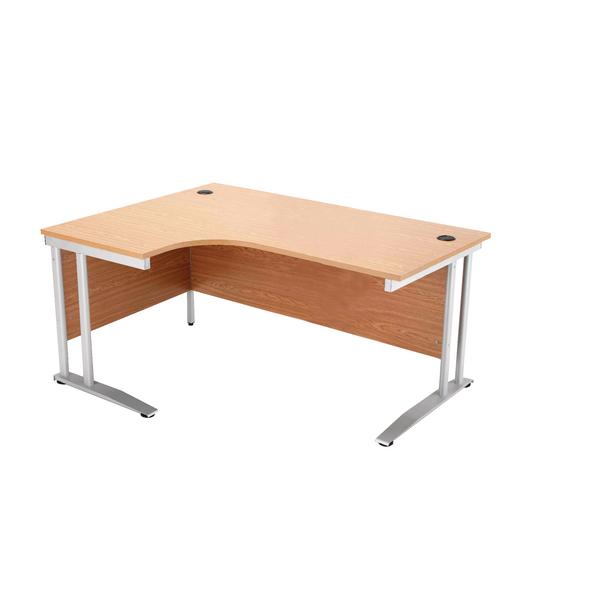 Arista 1600mm Left Hand Maple Radial Desk KF838656