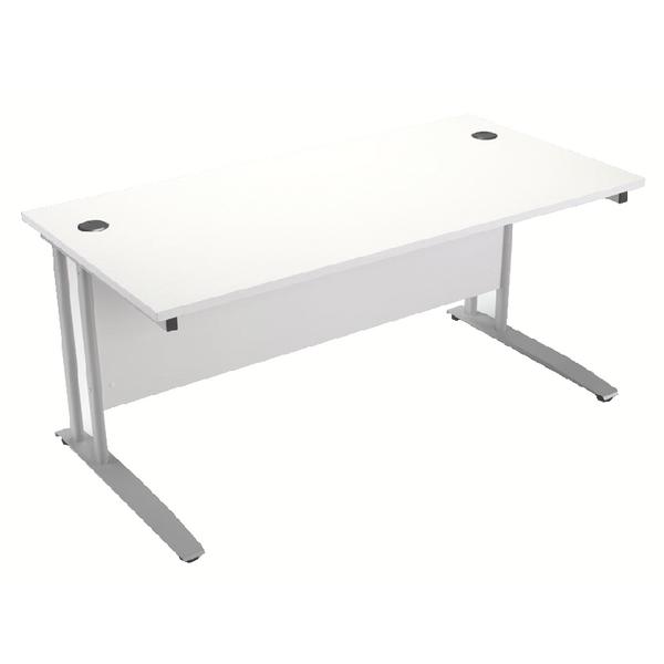 Arista 1200mm Rectangular Desk White KF838676