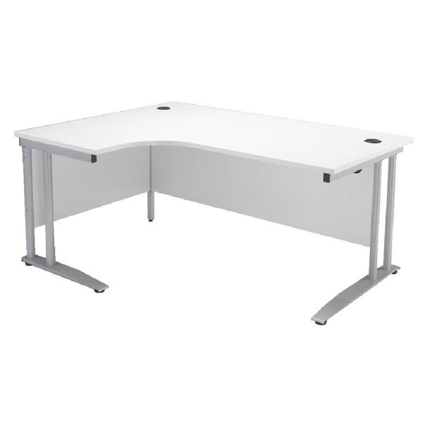 Arista 1600mm Left Hand White Radial Desk KF838690