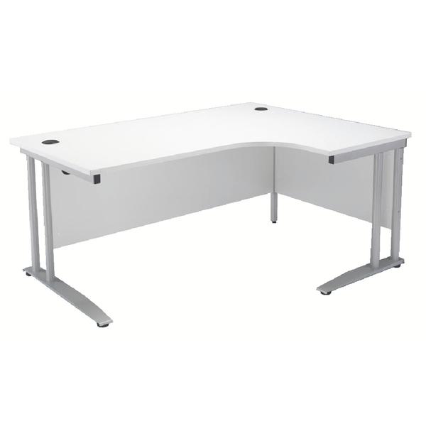 Arista 1600mm Right Hand White Radial Desk KF838691