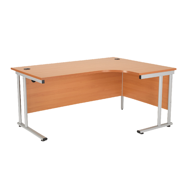 First Radial Right Hand Cantilever Desk 1600mm Beech KF838940
