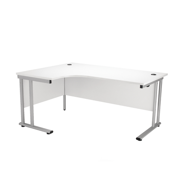 First Radial Left Hand Cantilever Desk 1600mm White KF838943