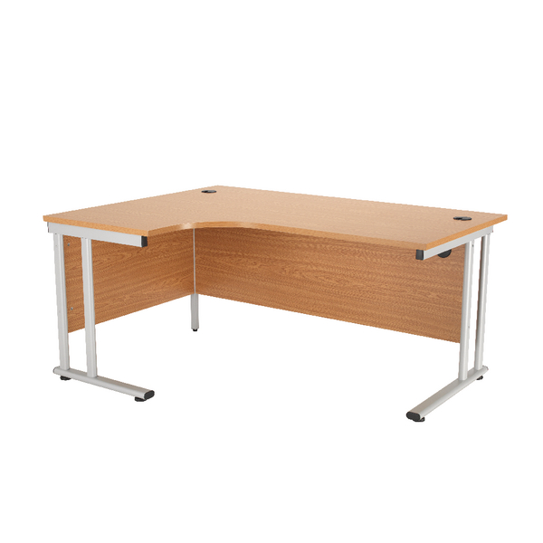 First Radial Left Hand Cantilever Desk 1800mm Oak KF838947