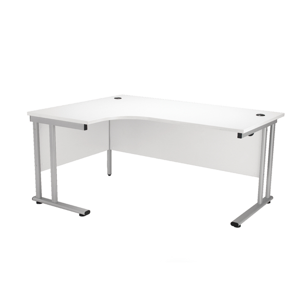 First Radial Left Hand Cantilever Desk 1800mm White KF838949