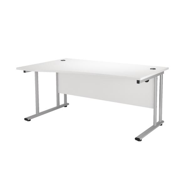 First Wave Left Hand Cantilever Desk 1600mm Beech KF838951