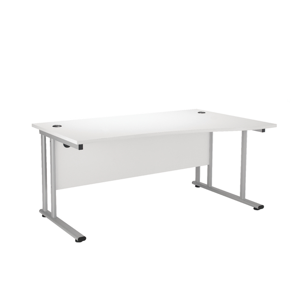 First Wave Right Hand Cantilever Desk 1600mm Oak KF838954