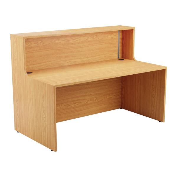 Jemnni Intro Oak 1600mm Reception Unit (Dimensions: W1600 x D800 x H740mm) KF8395333