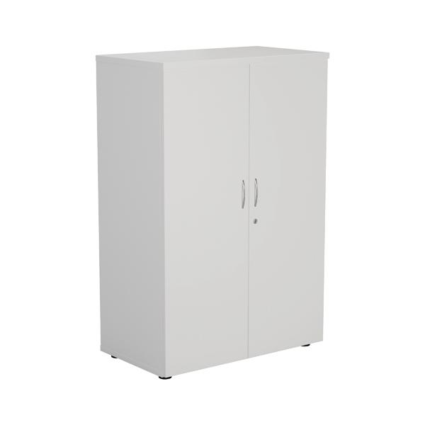 Jemini White 1200mm 1 Shelf Cupboard KF840142
