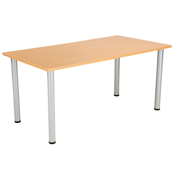 Jemini Beech 1600x800mm Rectangular Meeting Table KF840171
