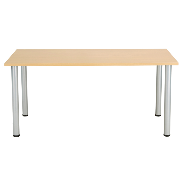 Jemini Oak 1600x800mm Rectangular Meeting Table KF840176
