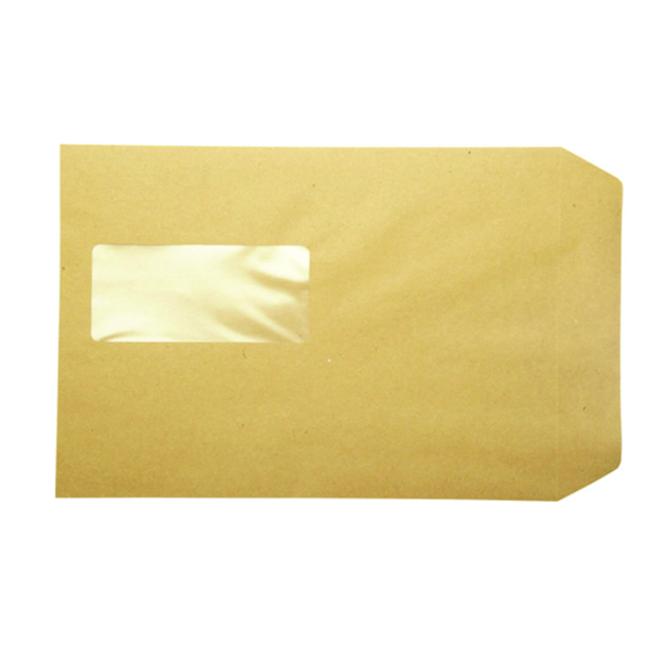Q-Connect C5 Envelopes Window Pocket Peel and Seal 115gsm Manilla (Pack of 500) KF97370