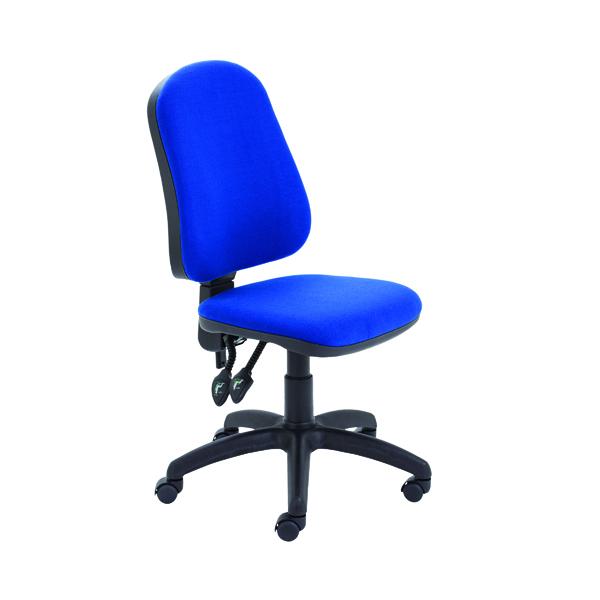 First High Back Operators Chair Blue KF98506