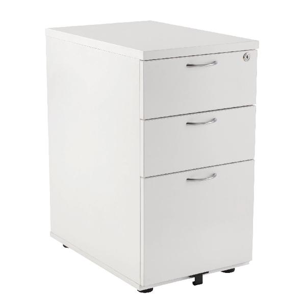 First Desk High Pedestal 3 Drawer 800mm Deep White KF98512