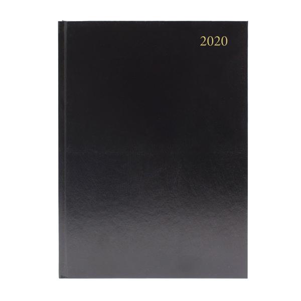 Desk Diary A4 2 Days Per Page 2020 Black KFA42BK20