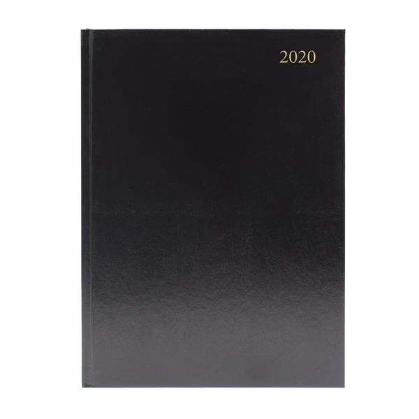 Desk Diary A5 2 Days Per Page 2020 Black KFA52BK20