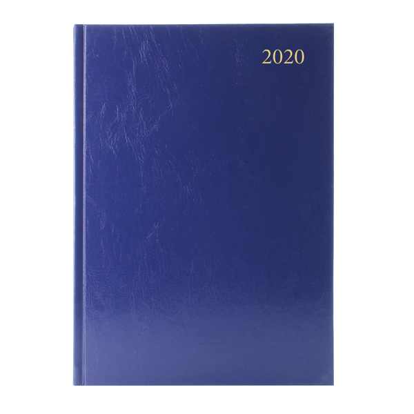 Desk Diary Blue A5 2 Days Per Page 2020 (Reference calender on each page) KFA52BU20