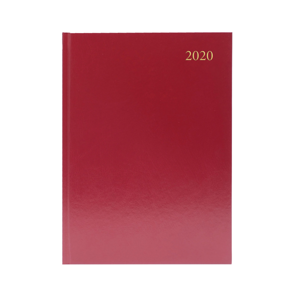 Desk Diary A5 Week to View 2020 Burgundy KFA53BG20